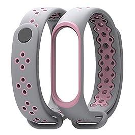 LayOPO Bracciale Xiaomi Mi Band 3 Compatibile, Cinturino in Silicone di Ricambio Sportivo Cinturino Accessori Cinturino Colorato per Donna Uomo Teens Bambini Rosa