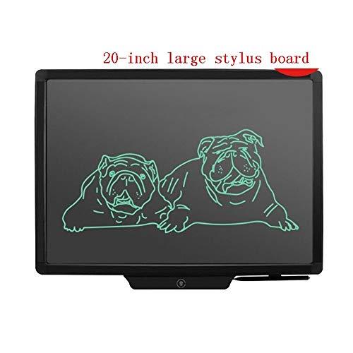 Fighrh 20 Zoll tragbare LCD Digital Writing Tablet ultradünne empfindliche Business Graphics Reißbrett übergroße wasserdichte Kind Puzzle Sketchpad Home Office Handschrift Board Geschenk -