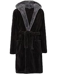 MICHAEL PAUL Men's Hooded Soft & Cosy Snuggle Fleece Dressing Gown