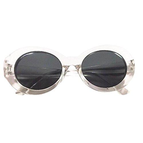 Sonnenbrille Damen & Herren Retro,OYSOHE Neueste Retro Vintage Clut Goggles Unisex Sonnenbrille Rapper Oval Shades Grunge Brille