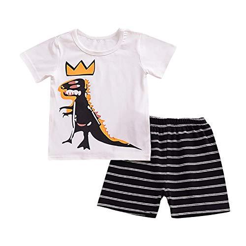 Baby Boy Sommer Pyjamas Set Dinosaurier Octopus Cartoon bedrucktes Hemd Top und Shorts 2 Stück Homewear (Octopus Kleinkind Kostüm)