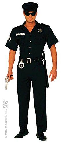 Widmann 3248P - Erwachsenenkostüm Polizist Overall Gürtel und Hut, Größe XL
