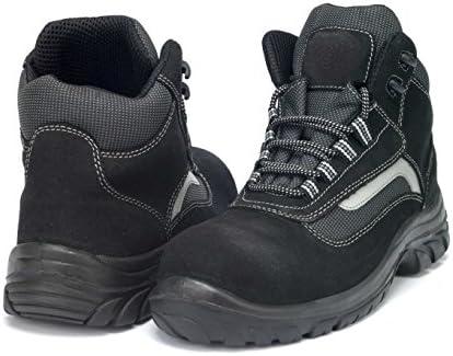 GSA 1034331003 par de zapatillas altas Carbon S1P SRC, negro/gris, 37
