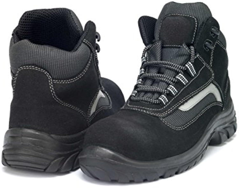 GSA 1034331012 par de zapatillas altas Carbon S1P SRC, negro/gris, 46