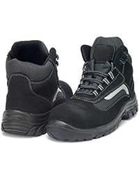 gsa - Calzado de protección de Piel para hombre, color Negro, talla 44