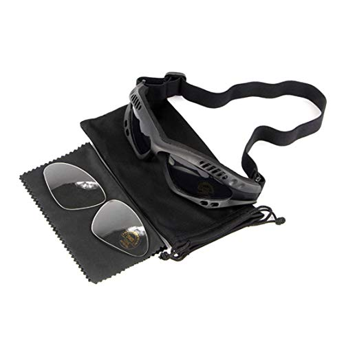 CHANNIKO-DE Motorcycle Hunting Desert Military Sunglasses Windproof Tactical Desert Storm Goggles Outdoor Motorcycle Sunglasses