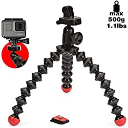 JOBY GorillaPod Action Tripod - Mini Trépied Polyvalent avec Fixation pour GoPro, 360 et Caméras d'Action, JB01300-BWW