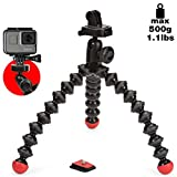 Joby JB01300-BWW GorillaPod Action Tripod, Flexible Mini Tripod with Mount for GoPro, 360 and other Action Cameras Up to 500 g Payload