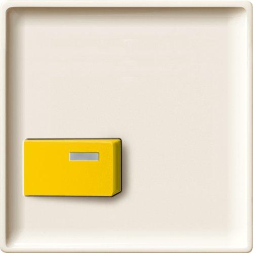 Merten 444144-Piastra centrale per Abst spegnimento, giallo, bianco, System (Ge Elettrico Piastra)