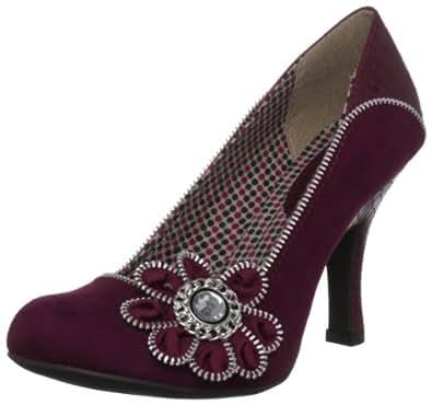 Ruby Shoo Women's Monroe Wine Special Occasion Heels 08221 3 UK