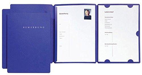 Bewerbungsmappe Select A4 blau PAGNA 22002-02 m. Klemmsch