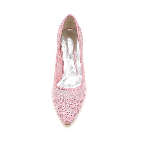 L@YC Scarpe Da Sposa Donne Con Cappuccio Rotondo / Scarpe Piane / Serata E Nero / Bianco / Rosa Pink