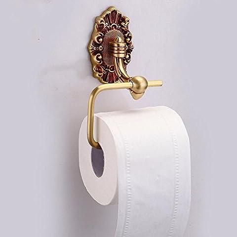 BBSLT-Stile europeo lusso creativo bagno porta carta igienica, porta rotolo di filo di rame, aereo (Aerei Ventose)