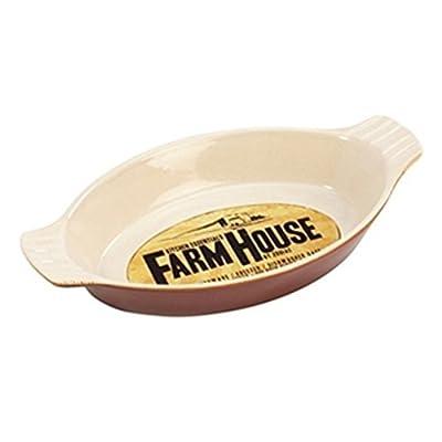Farmhouse Oval Mit ohren Schale 25 x 13 x 4cm / 0,5 L