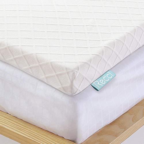 Recci Topper Memory Foam 6cm, Topper Matrimoniale per Alleviare Pressione, Topper Materasso con Rivestimento Ipoallergenico in Bamboo - Rimovibile e Lavabile, CertiPUR-EU ( 160x190x6cm )