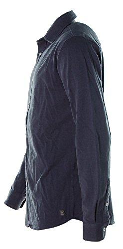 Kitaro -  Camicia Casual  - Classico  - Maniche lunghe  - Uomo Indigo