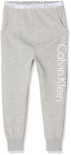 Calvin Klein Jungen Hose Lounge Pant, Grau (Grey Heather 016), 128 (Herstellergröße: 8-10) (Kleine Pyjama-hose)
