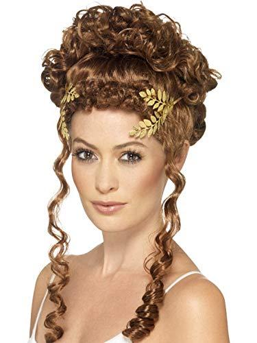 Römischen Kostüm Zubehör - Halloweenia - Kostüm Accessoires Zubehör römischer Damen Kopfschmuck mit Lorbeerblättern, perfekt für Karneval, Fasching und Fastnacht, Gold