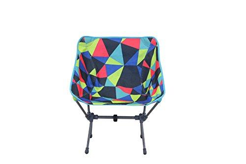 Portail extérieur Unisexe Electro Fusion Pliable Chaise de Camping, Multicolore, 52 x 32 x 35 cm