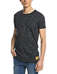 Scotch & Soda Long Fit Crewneck Tee In Melange Jersey Quality, T-Shirt Homme