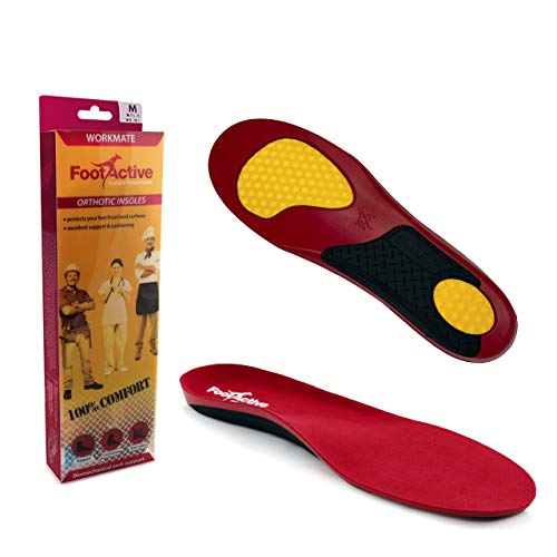 FootActive Workmate Insoles - S - 5/6.5 UK Red
