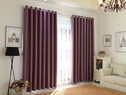 WYJW Verdunkelungsvorhänge verdickt isoliert Wohnzimmer Schlafzimmer Esszimmer Vorhänge 160cmx250cm (Breite x Höhe) 2 Platten lila