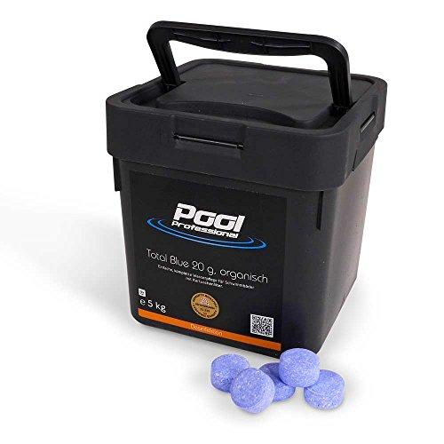 Total Blue 20g | Multifunktions-Tabletten | von Pool Professional | im 5,0 kg Eimer | Hochwertige Desinfektion für Schwimmbecken