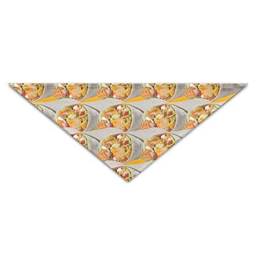 Sdltkhy Burrito Tacos Tasty Pet Scarf Dog Cat Bandana Collars Triangle Neckerchief ()