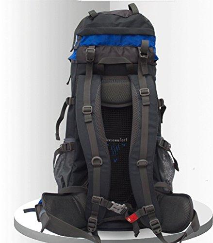 wnnideo Abfalltonne interne Rahmen Rucksack Wasserdicht Wandern Rucksack Wanderrucksack Trekking Tasche für Klettern, Camping Wandern, Bergsteigen, Reisen und (pn-09811) Blau
