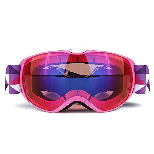 ZHANGQIAO-EU Kinderskibrille Anti-Fog-Schutzbrille for den Außenbereich Anti-Fog-Schutzbrille und...
