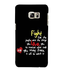 Fuson Designer Back Case Cover for Samsung Galaxy Note 5 :: Samsung Galaxy Note 5 N920G :: Samsung Galaxy Note5 N920T N920A N920I (Fight for the people and)