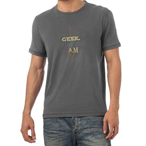 TEXLAB - I geek therefore I am - Herren T-Shirt Grau