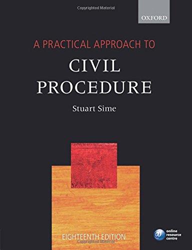 A Practical Approach to Civil Procedure por Stuart Sime