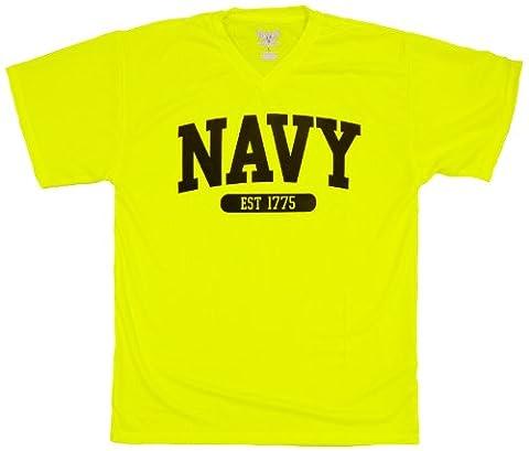 US Navy Short Sleeve T-Shirt, Yellow, X-Large