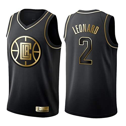 GRYUEN Herren Basketball Trikot Clippers 2# Leonard Jersey Herren Basketball Anzug Atmungsaktiv Weste