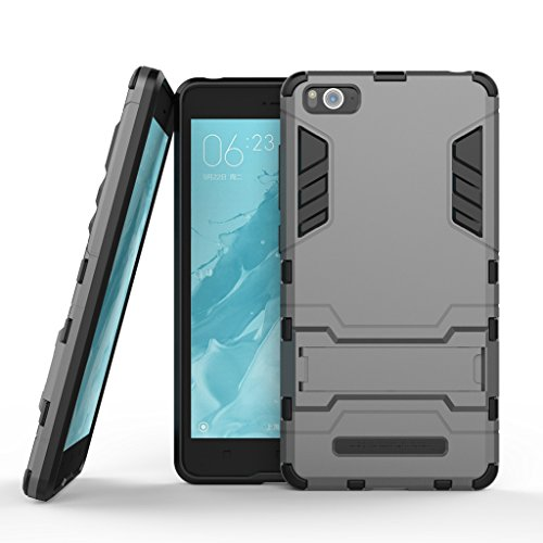 Antichoc Back Coque Case Cover pour Apple iphone 6/6S 4.7 Fenrad® Shockproof 2 in 1 TPU + PC Armor Full-body Protection Etui Housse Premium Kickstand Bumper Hard Shell+Stylet--Gris Gris