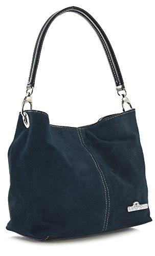 italienische Wildleder Einzelriemen Hobo Nietentasche mit Schutztasche - Demi (Cowgirl-outfits Für Damen)