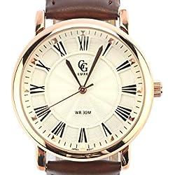 GG Luxe-Zeigt Herren Gold Armband Leder schwarz EL PASO