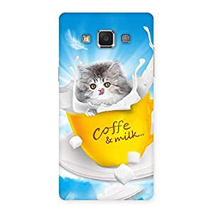 Stylish Coffee Kitty Back Case Cover for Samsung Galaxy A5