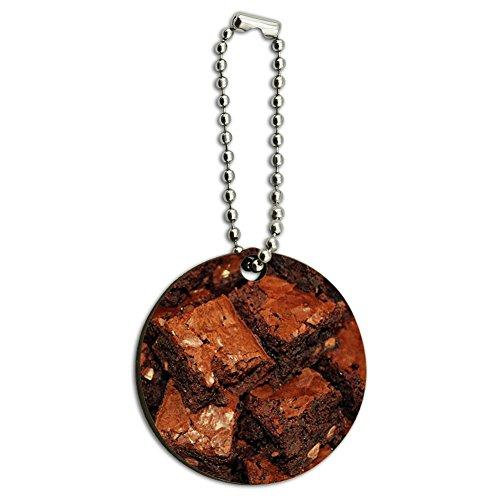Brownies Holz rund Schlüssel Kette (Runde Brownie)
