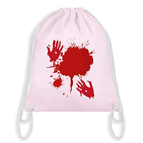 (Halloween - Blutig Fasching Kostüm - Unisize - Pastell Rosa - WM110 - Turnbeutel & Gym Bag)