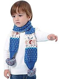 Baby Kinder Stricke Schal Winter Jungen Mädchen 0-10 Jahre Warm Doppelschicht Häkeln Schals Halstuch Cartoon Motiv