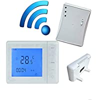 16A Inalambrico - Termostato programable digital - Radio frecuencia - para calefaccion de agua / eléctrico por suelo radiante (no caldera)