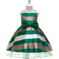 KOKQSX-Vestido de la Muchacha de Flor Chica Vestido Falda Vestido de Novia Verde 110cm