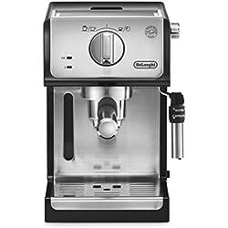 De'longhi ECP35.31 - Cafetera espresso, 1100w, capacidad 1,1l, café molido y monodosis, 2 tazas, negro y plata