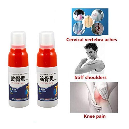 MMWA Schmerzlinderungsspray, Enthält natürliche Inhaltsstoffe, Arthritis Schmerzlinderungsspray Muskelverstauchung Knieschmerzen in der Taille Orthopädisch (3 pcs) -
