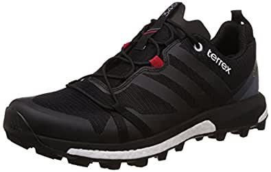 adidas Men's Terrex Agravic Gtx Black, White and Red Running Shoes - 6 UK