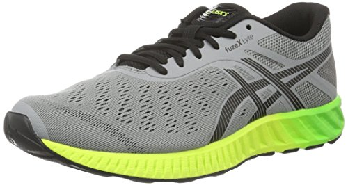 ASICS Fuzex Lyte, Scarpe Running Uomo, Grigio (Aluminum/Black/Safety Yellow), 45.5 EU