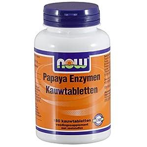 NOW PAPAYA ENZYMEN mit Minze und Chlorophyll 180 Kautabl. from NOW Foods