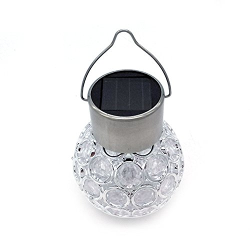 LEDMOMO Kugel Ball Solar Leuchte LED Kristall Farbwecksel Lampe zum Hängen für Outdoor Garten Dekoration (Mehrfarbig)